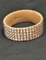 5-rows 20ss Swarovski Crystal AB Bangle Bracelet