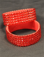 5-rows 20ss Swarovski Siam Bangle Bracelet