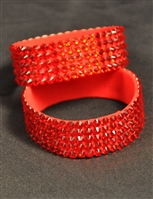 5-rows 20ss Swarovski Hyacinth Bangle Bracelet