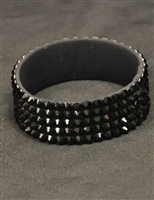 5-rows 20ss Swarovski Jet Bangle Bracelet