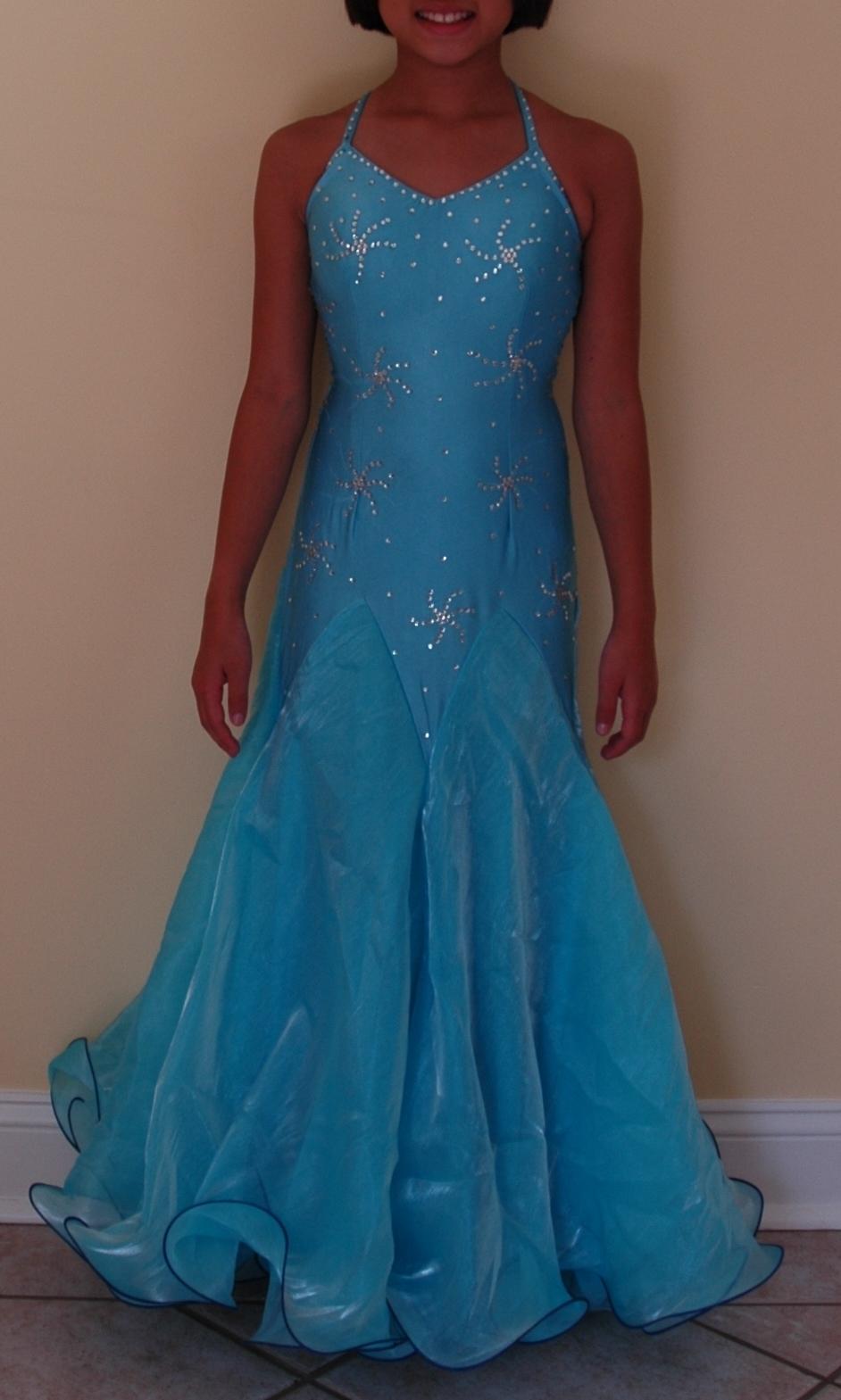 & Kids Ruffle Ballroom Dress