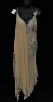 See Through Drapy Beige Latin Dress
