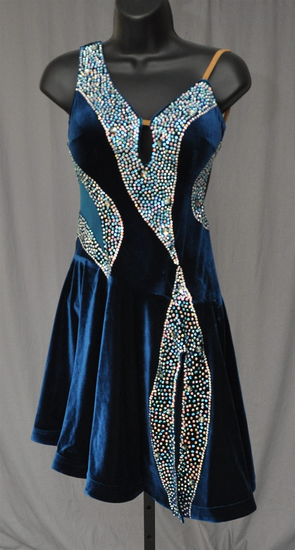 Blue Velvet Latin Dress