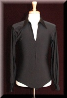 Men's Zipper Ballroom & Latin Shirt