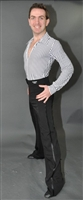 Mens Ballroom and Latin Pants with Satin Side Band