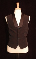 Mens Ballroom Stain Collar Short Vest