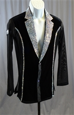 Men's Stoned Velvet with Mesh Side Shirt/Jacket