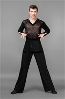 Dance Wear Mens Latin Ballroom Pants Shirts Men Shirt American