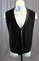 Men's Satin Edge Vest Body Suit