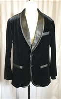Men's Velvet Jacket with Satin Lapel