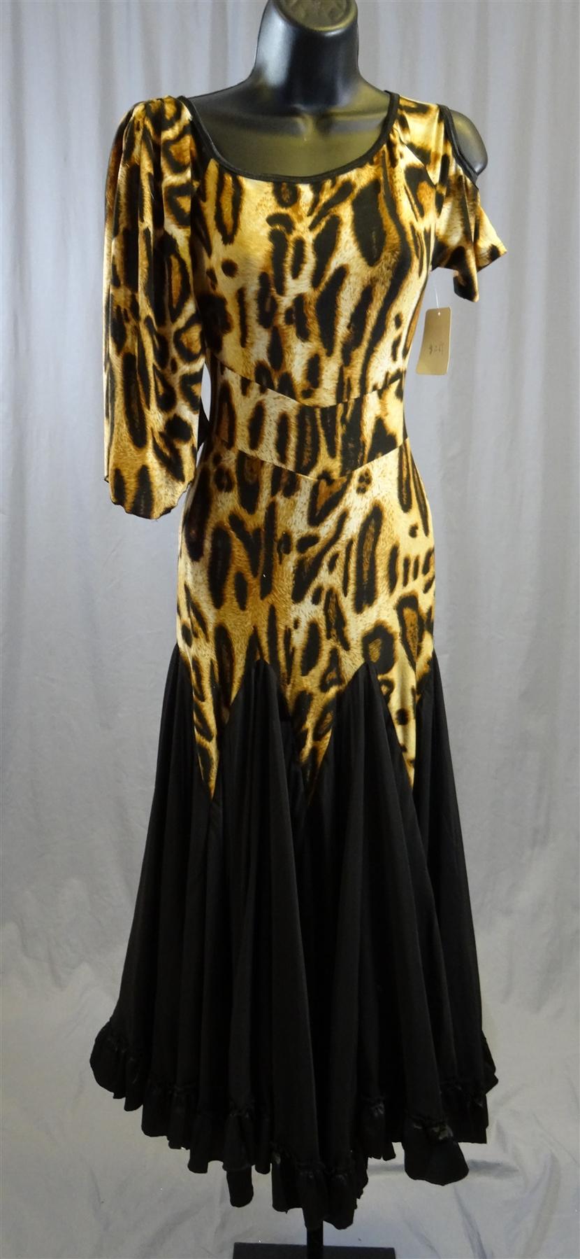 Elegant Leopard Ballroom Dance Dress