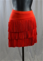 Cloth Fringe Latin Skirt with Built-in Under Pants