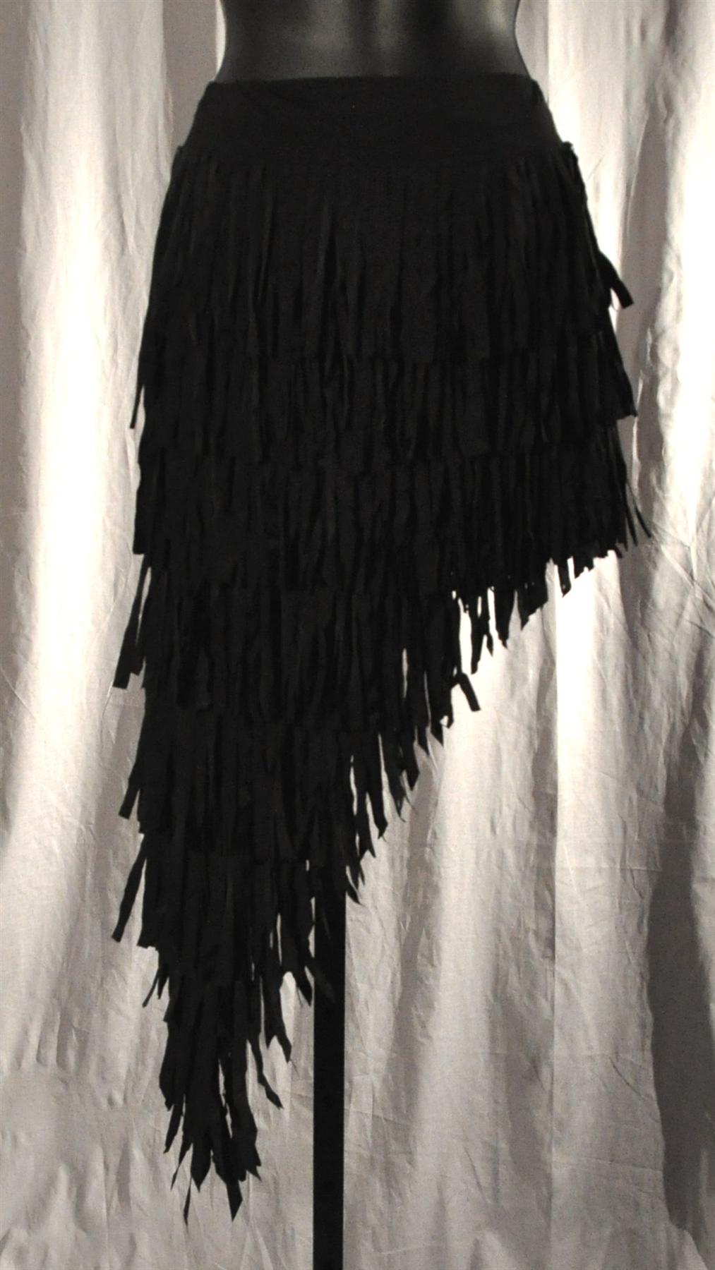 Slatend Cloth Fringe Short Skirt With Built In Under Pants