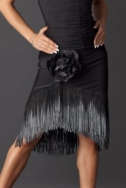 Fringe Latin Skirt with Built-in Under pants