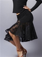 Lace Latin Skirt with Built-in Under pants