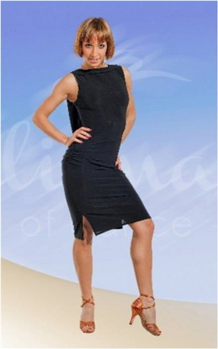 0da4e96ed03b5 Mesh Back Latin Dress with Under Pants