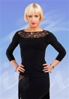 Lace Back Quarter Sleeve Top