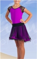 Wired Skirt Latin Dress with Under Pants