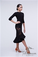 Elegant Latin Fringe Dance Dress