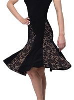 Ballroom Dance Lace Long Skirt