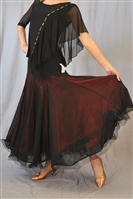 Black and Color Layered Wire Ballroom Skirt