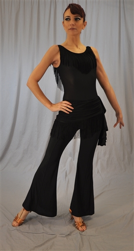 Side and Hip Fringe Dance Pants