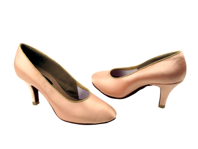 Competitive Ballroom Satin-Rounded Toe Shoes