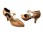 X-Strap Closed Toe Ballroom Dance Shoes