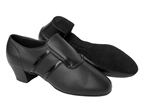 Men's Slip-on Leather Latin Dance Shoes
