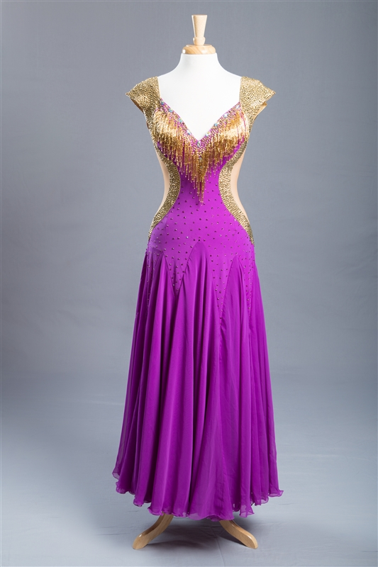Gold & Rose Ballroom Dress
