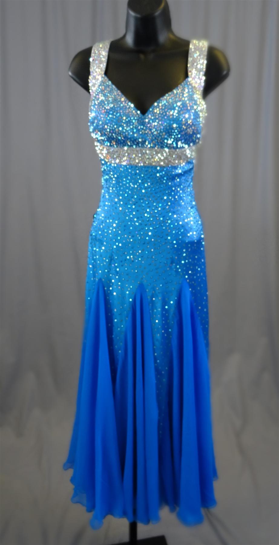 sexy  u0026 elegant electric blue ballroom dress