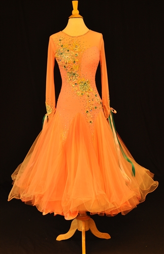 Peach Elegant Ballroom Dress