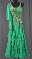 Sexy Green Ballroom Dress