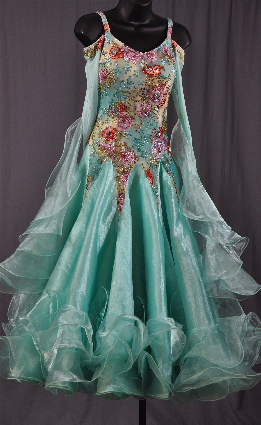 Elegant Light Blue Ballroom Dress