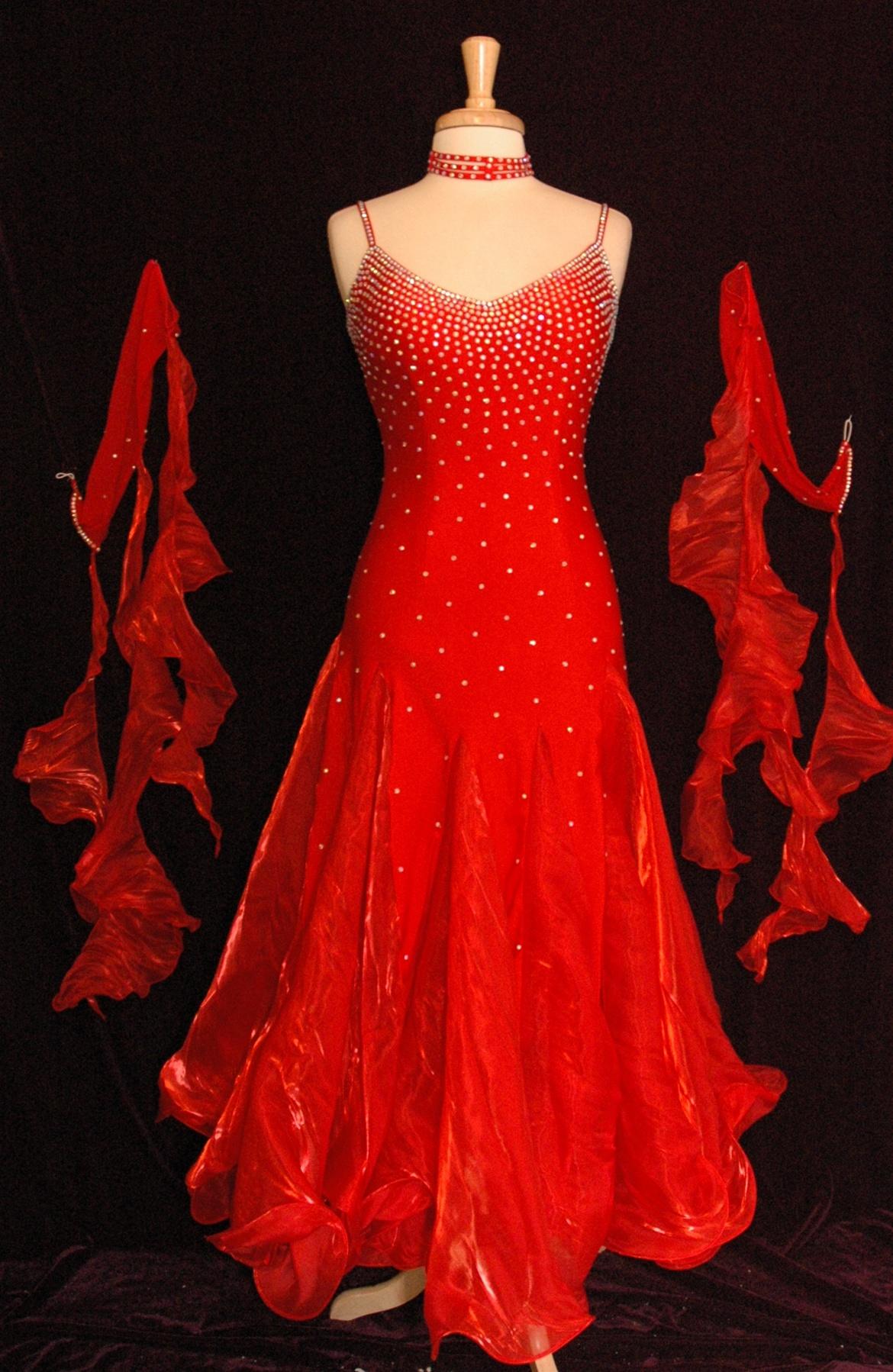 Korean Silk Ballroom Dress