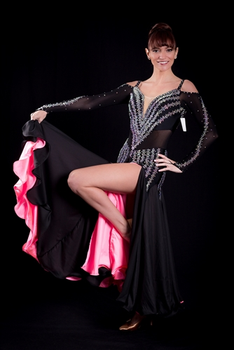 Sexy & Elegant Black and Pink Ballroom Dress