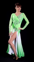 Sexy Dyed Green Ballroom Dress