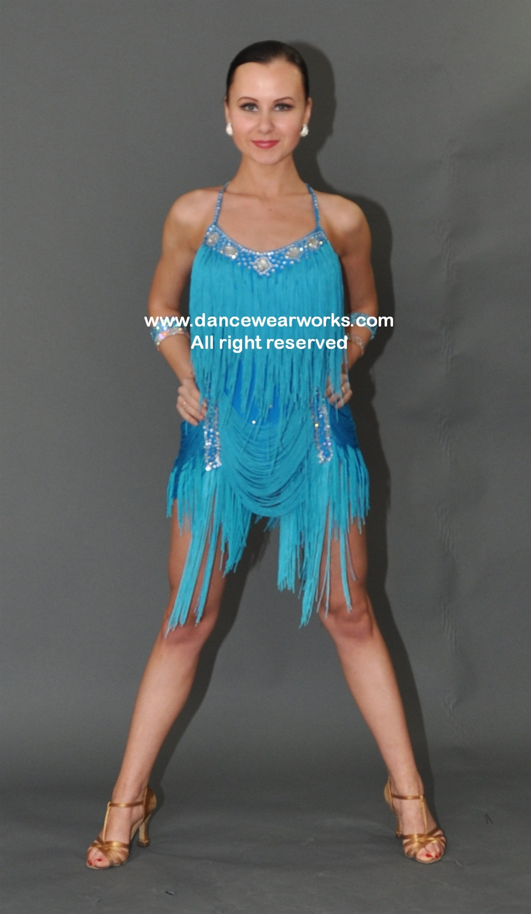 Fun and Sexy Fringe Latin Dress