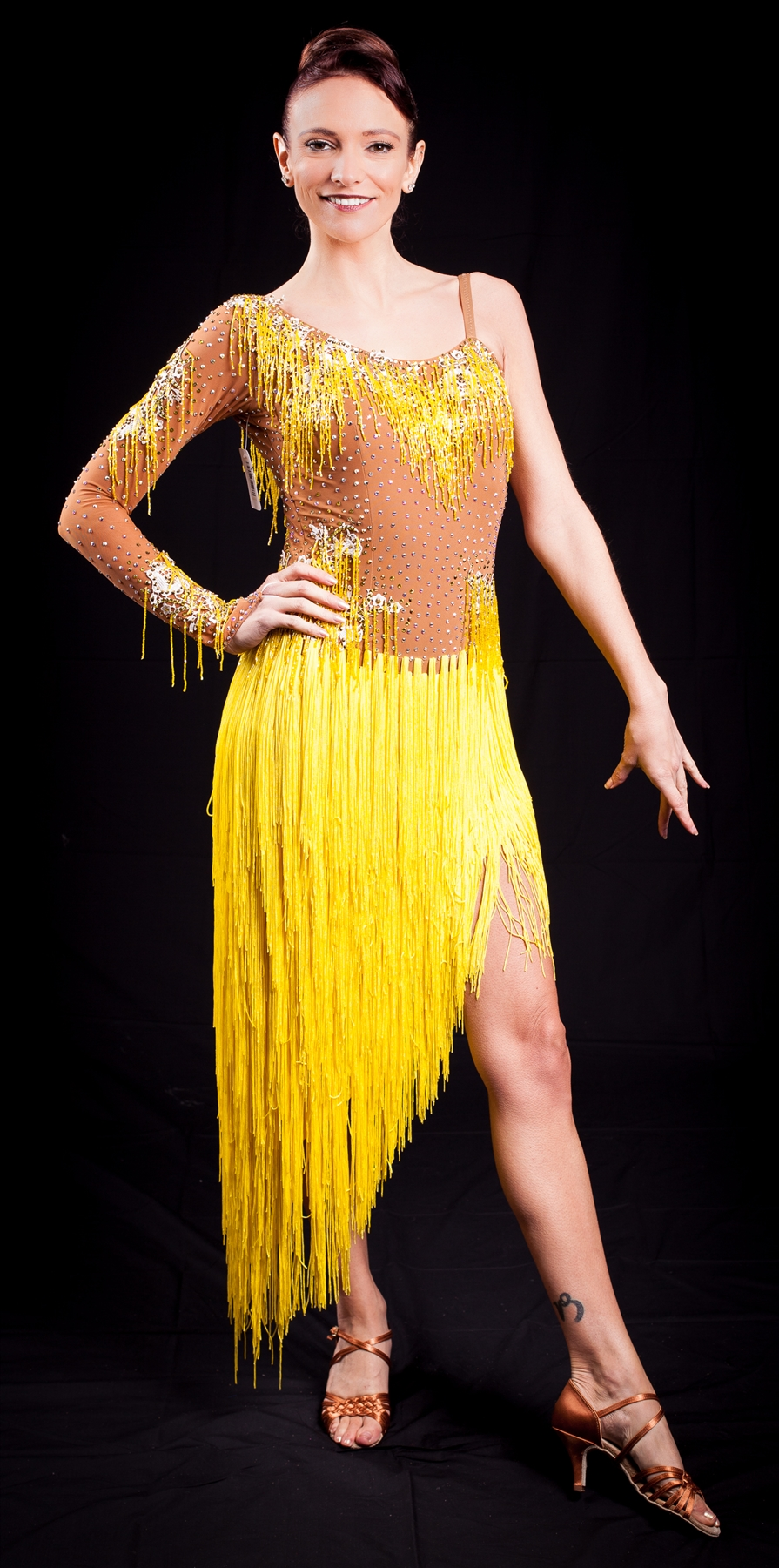 Yellow Fringe Dress