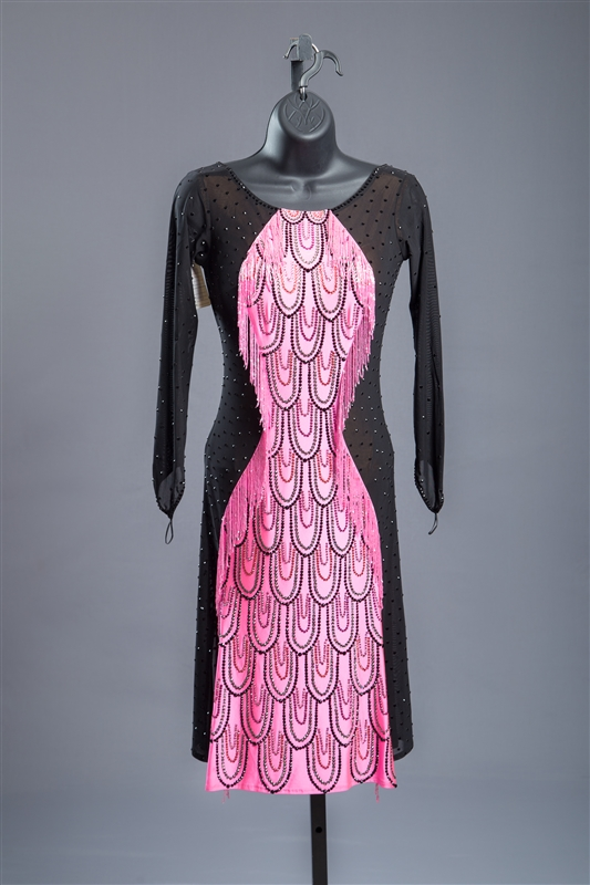Elegant & Fun Pink & Black Latin Dress