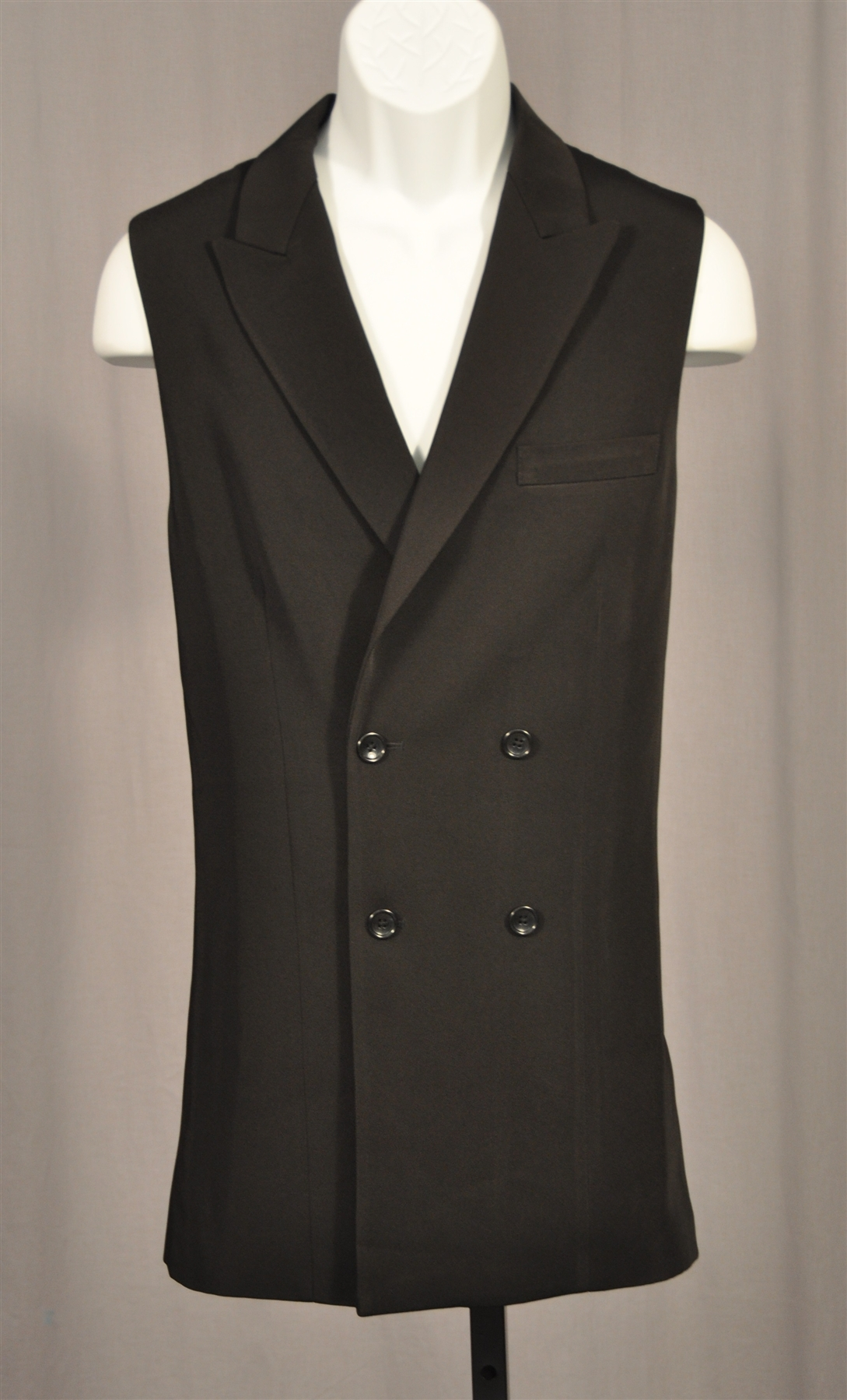 Men S Ballroom Double Buttons Long Vest