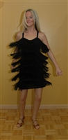 Fringe Dance Dress with built-in body suit