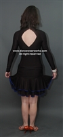 Turtle Neck Latin Dress with Body