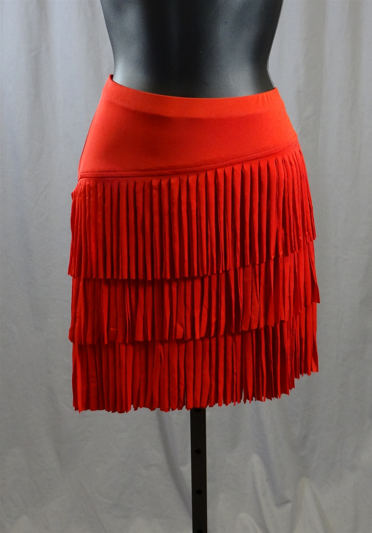 Cloth Fringe Latin Skirt With Built In Under Pants