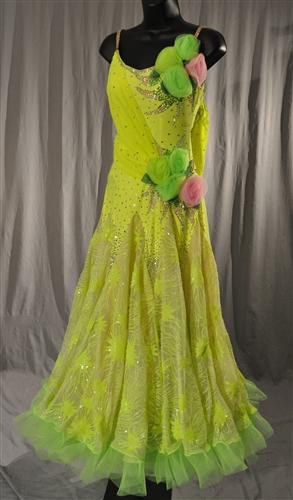 Elegant Lime Green Ballroom Dress