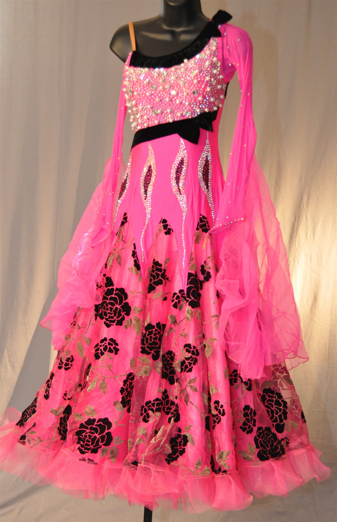 Hot Pink Ballroom Dress