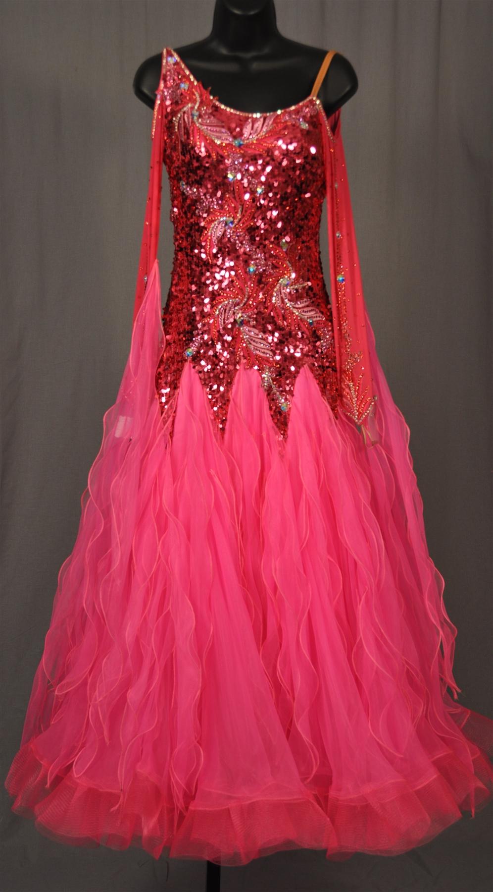 Elegant Hot Pink Ballroom Dress