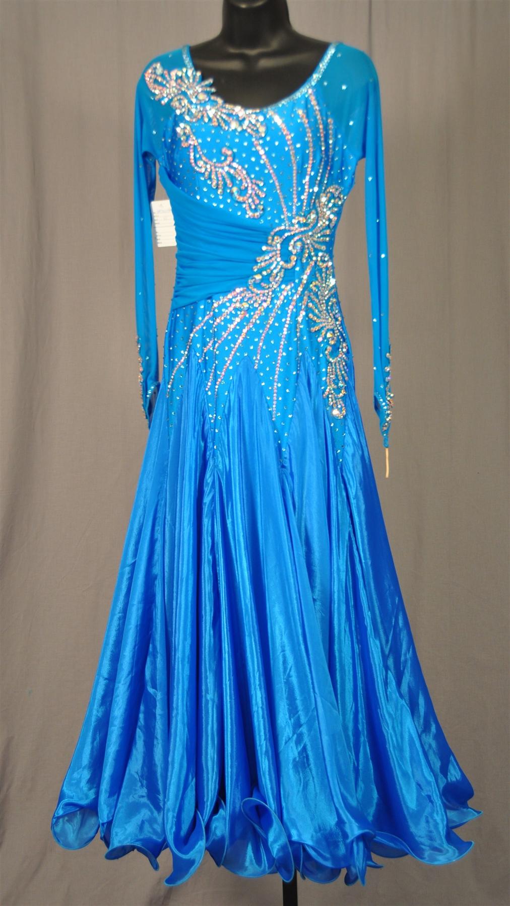 Elegant Electric Blue Ballroom Dress