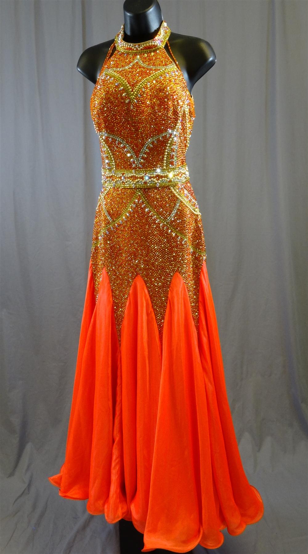 Elegant Tango Flare Ballroom Dress
