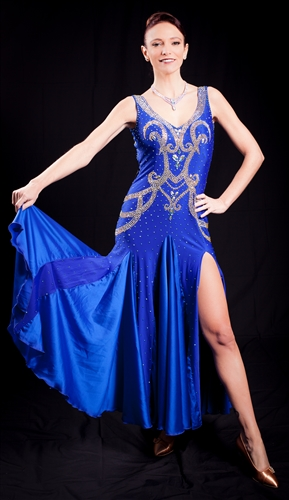 Elegant Royal Blue Ballroom Dress